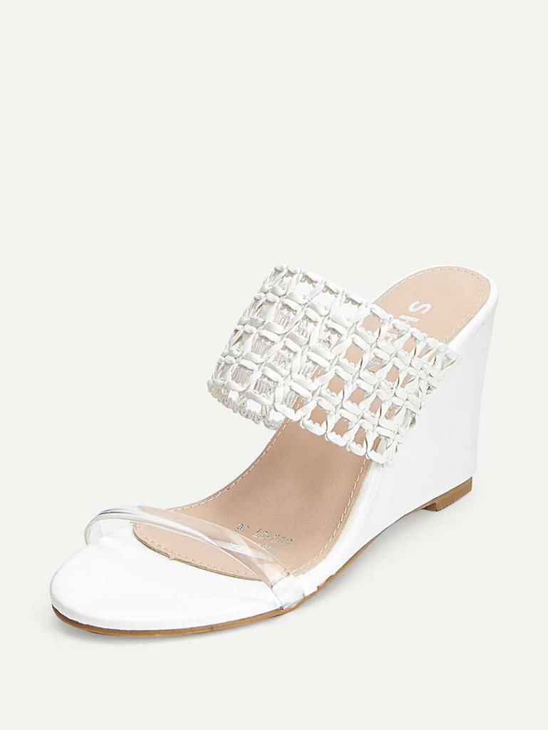 Clear Strap Hollow Out Wedges