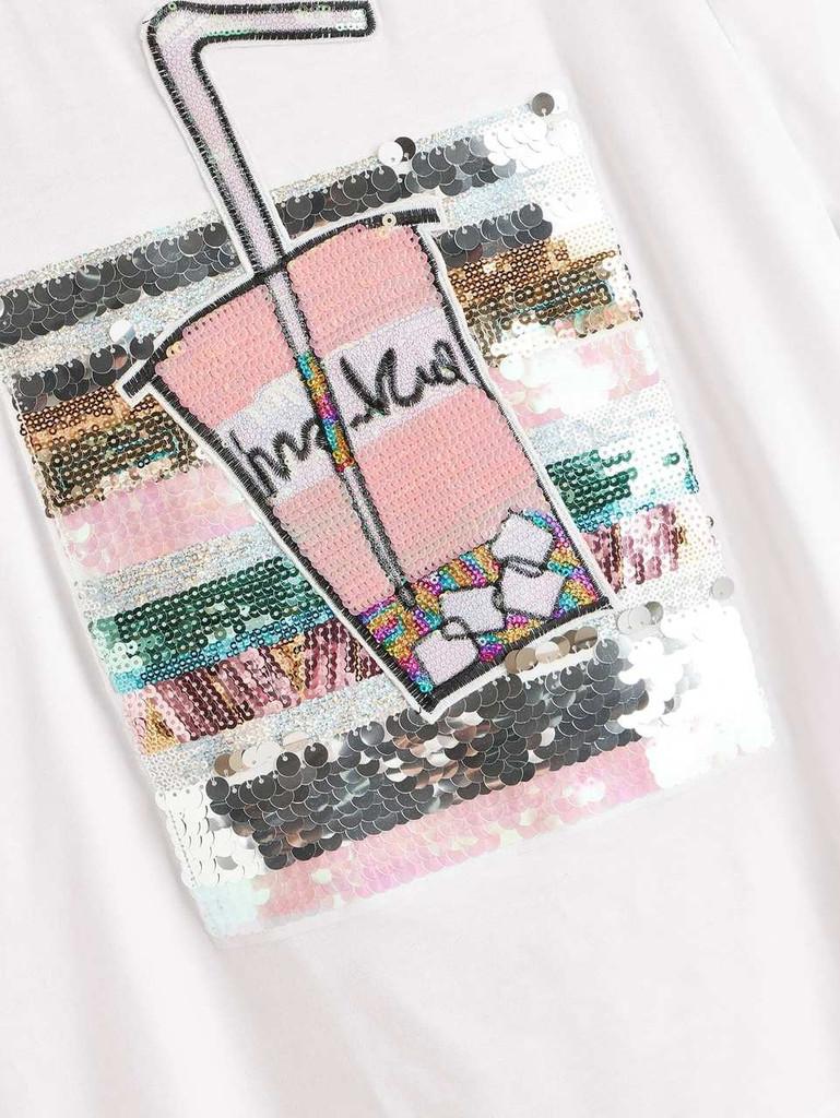 Colorblock Sequin Detail Top