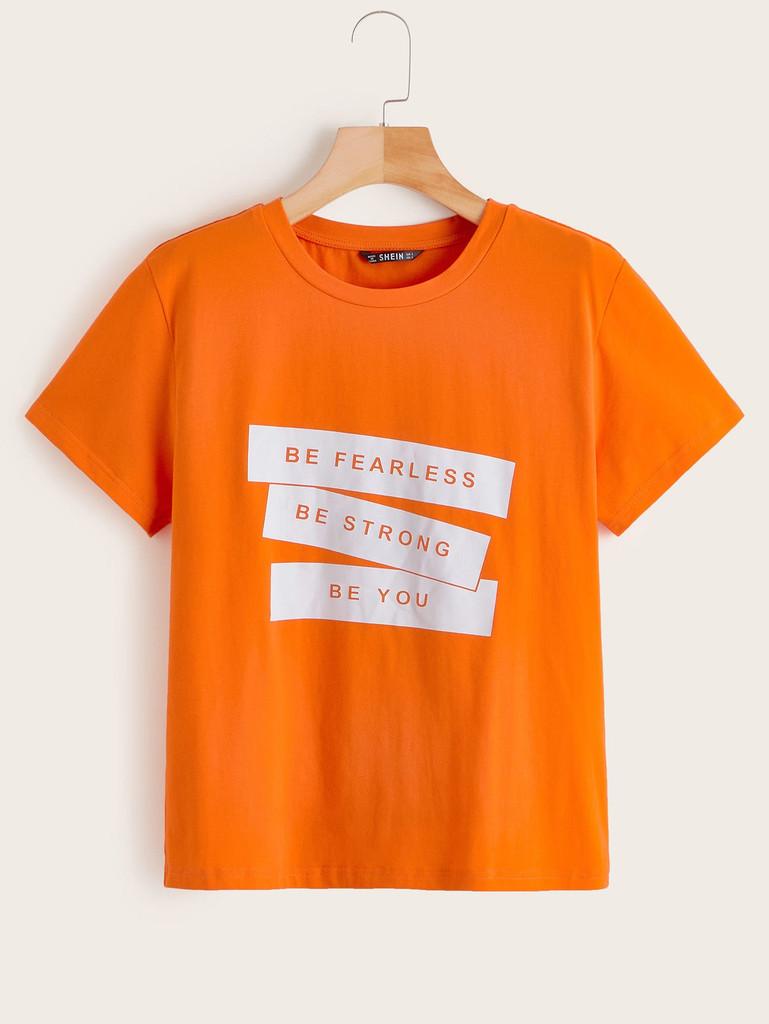 Slogan Print Tee - de756d06