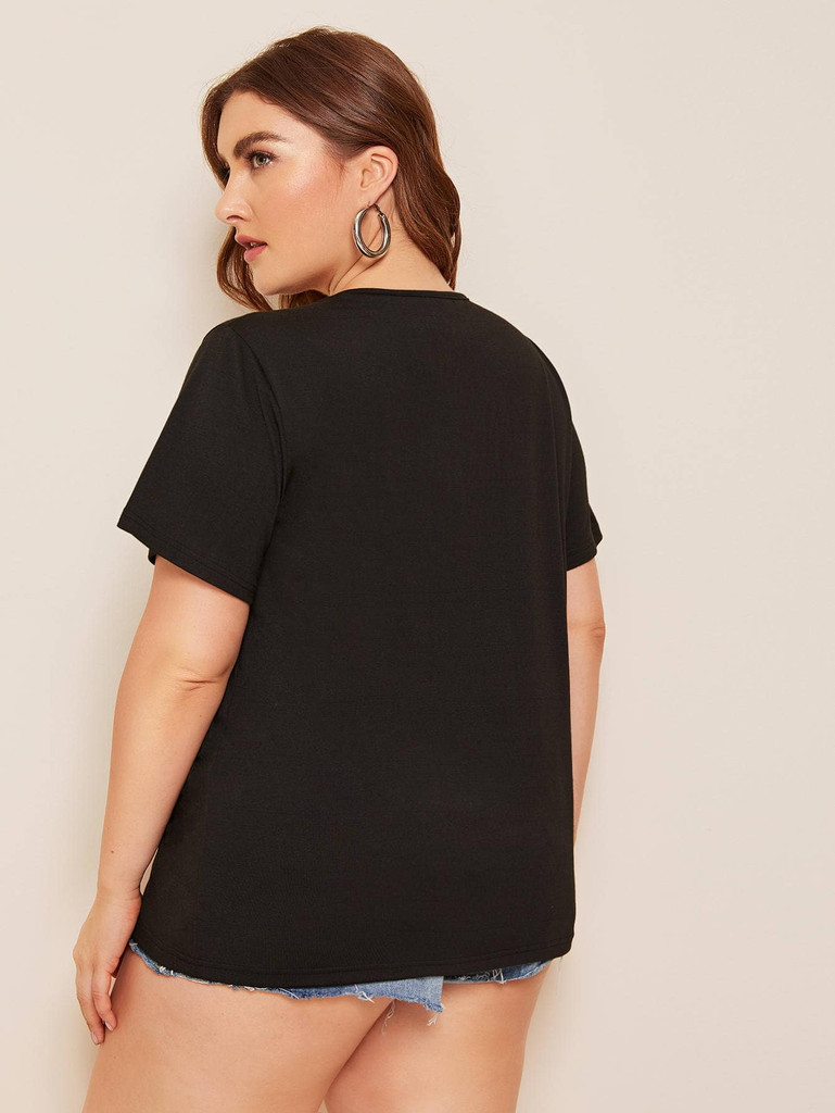 Plus Criss-cross Cut Out Tee