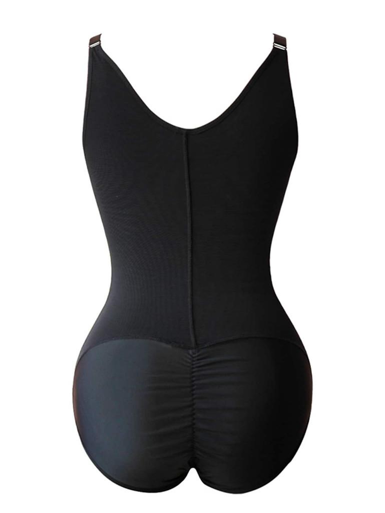 Plus Zip-up Shapewear Bodysuit