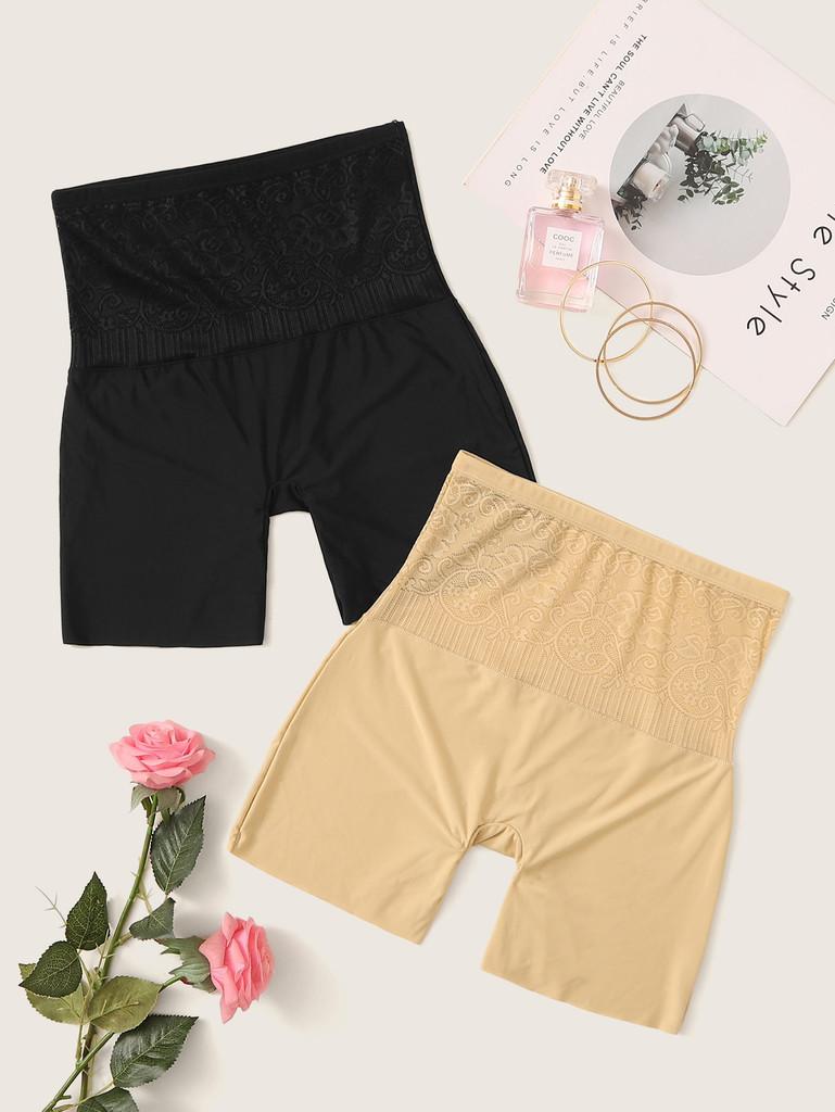 Floral Lace Shapewear Panty Set 2pack