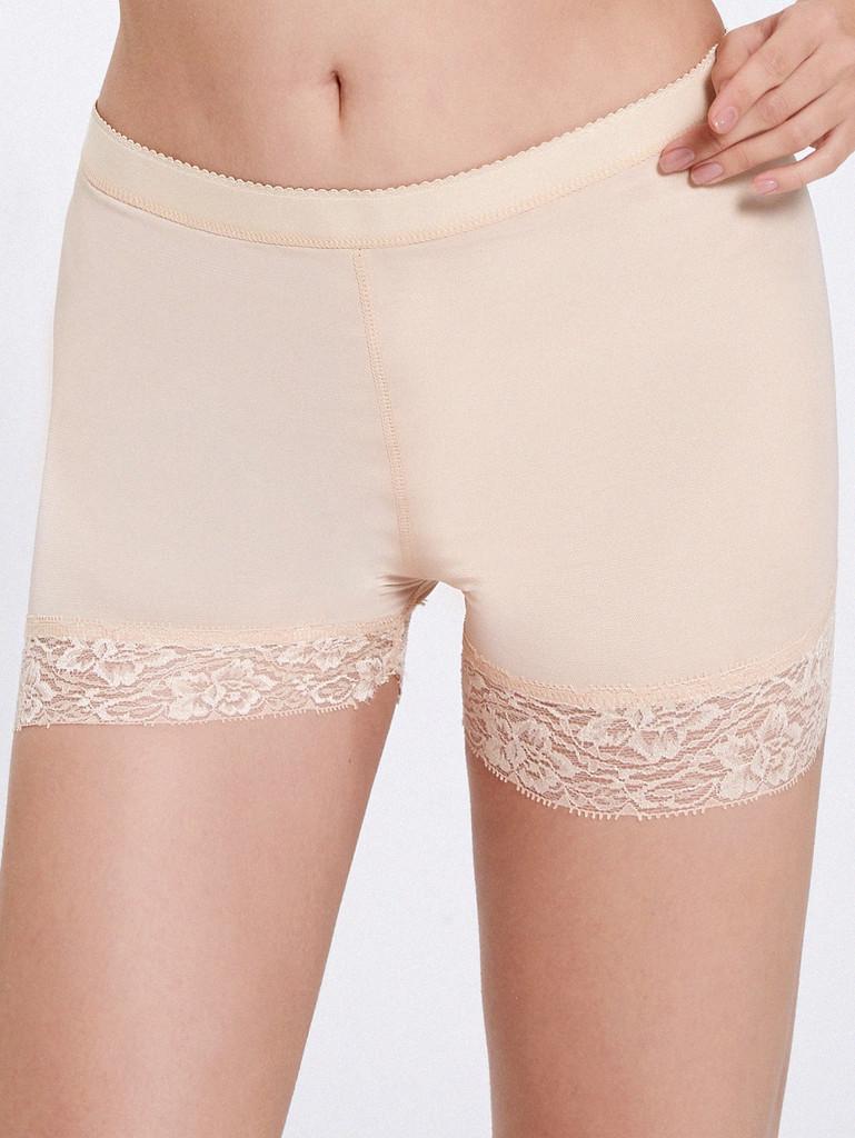 Lace Trim Padded Shapewear Shorts