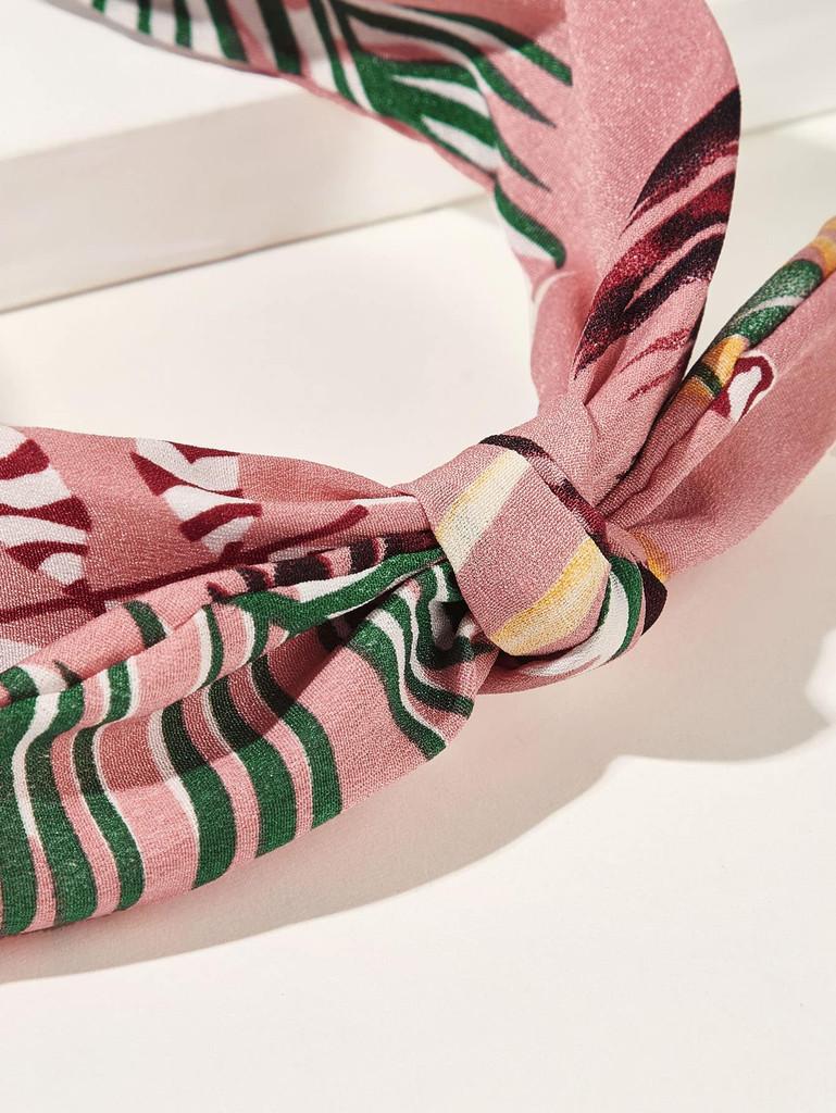 Leaf Pattern Bow Knot Headband