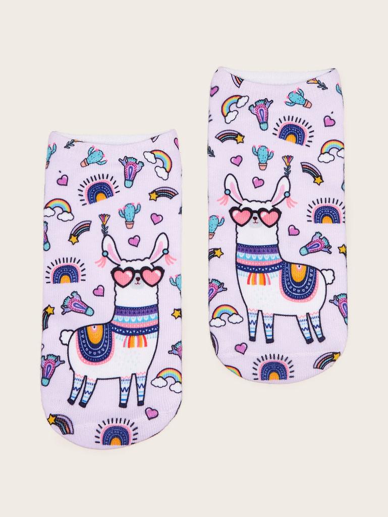 Animal Pattern Socks 1pair