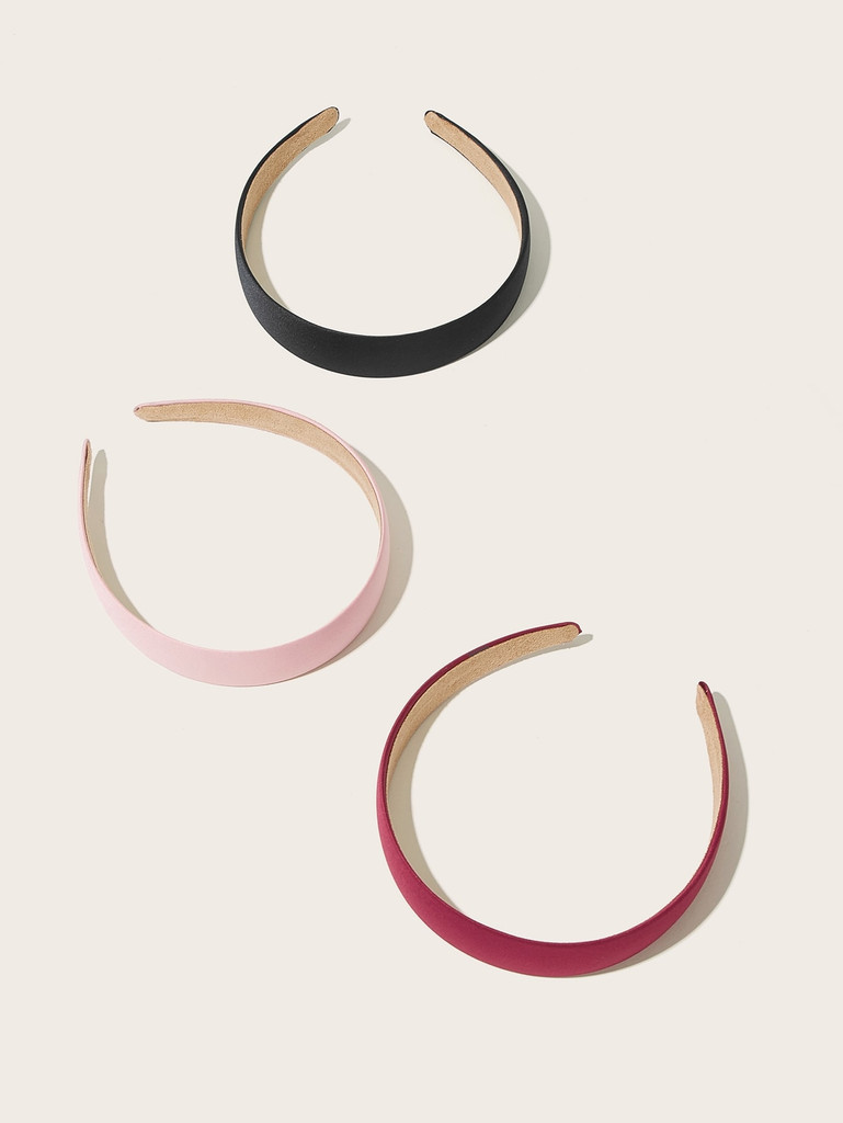 Solid Headband 3pcs