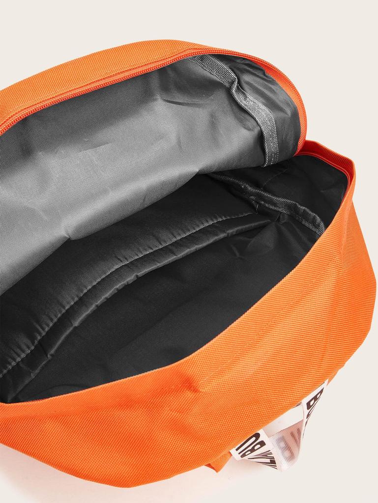Pocket Front Letter Ribbon Backpack