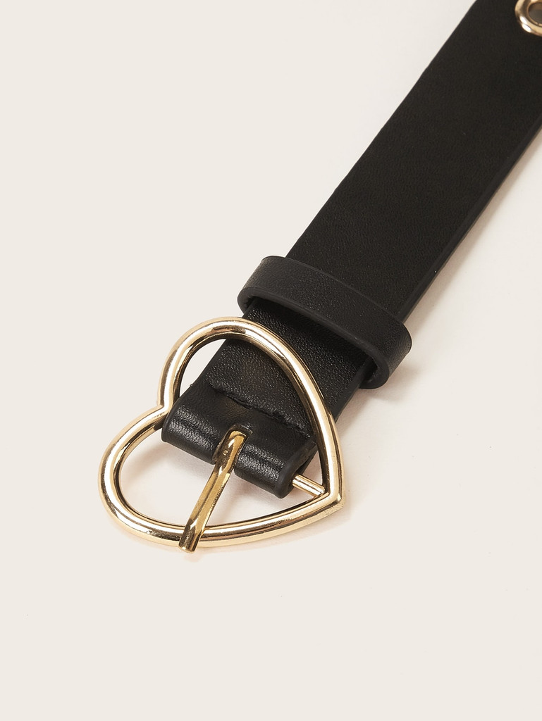 Heart Metal Buckle Belt