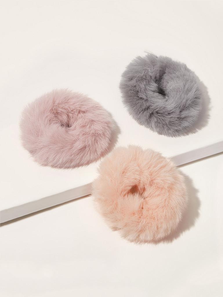 Fluffy Scrunchies 3pcs