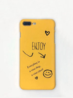 Letter Print iPhone Case - 1