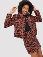 Flap Pocket Front Leopard Jacket