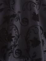 50s Mesh Overlay Fit & Flare Dress - Black