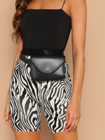 Zebra Print Cycling Shorts