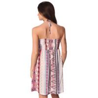 Bandeau dress with geo-tribal print