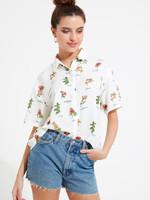 Garden Floral Print Short Sleeve Shirt