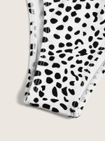 Dalmation Print High Cut Swimming Panty