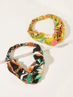 Floral Pattern Pleated Headband