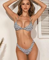 Dalmatian Triangle High Cut Bikini Swimsuit
