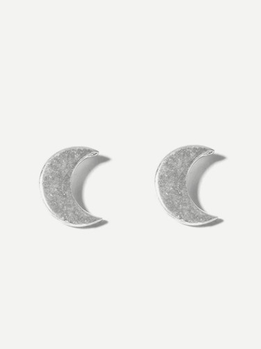Moon Shaped Mismatched Stud Earrings - 6d46cf60