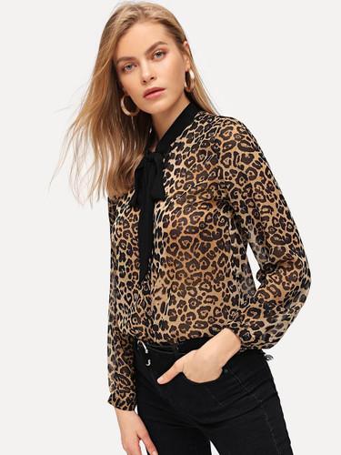 Leopard Print Buttoned Shirt