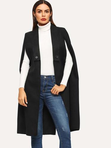 Shawl Collar Longline Coat
