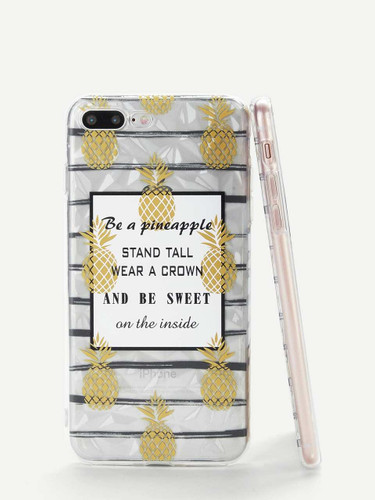 Pineapple Print iPhone Case