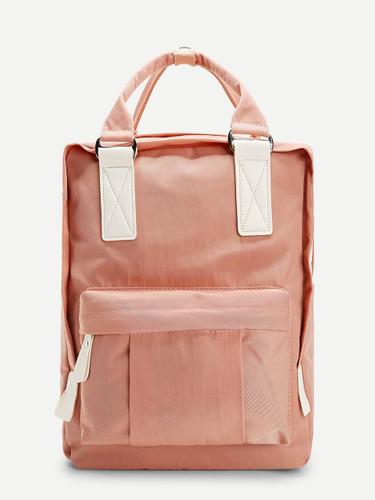 Plain Pocket Front Backpack