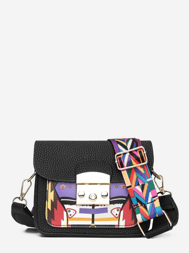 Abstract Print Bag With Guitar Strap