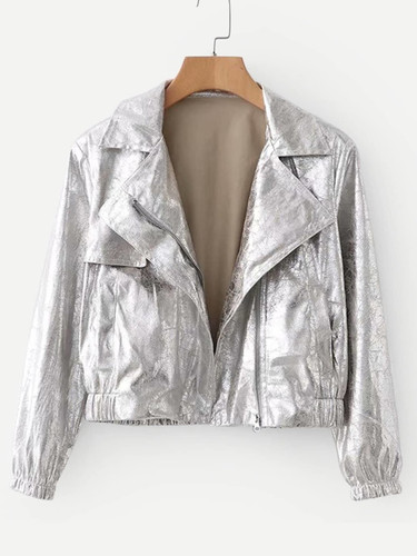 Metallic Pocket Front Jacket