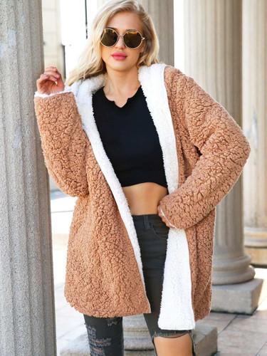Reversible Hooded Teddy Coat