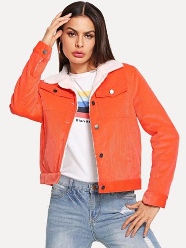 Contrast Fleece Lined Jacket