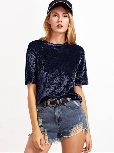 Crushed Velvet Tshirt