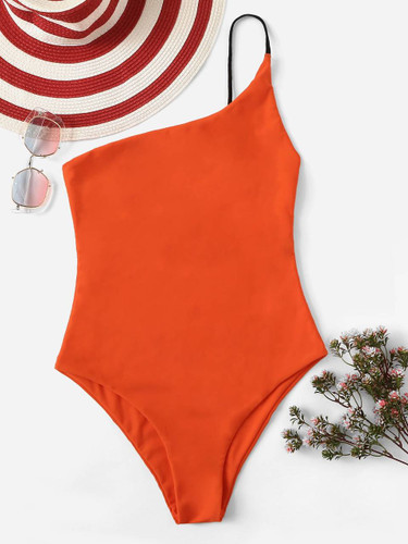 One Shoulder One Piece Swimsuit
