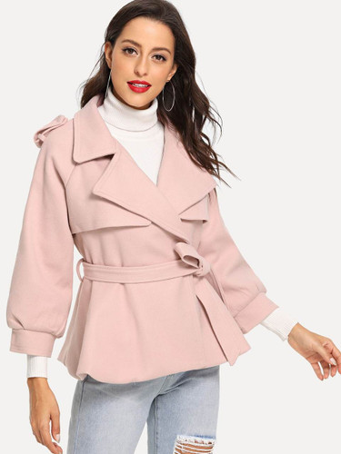 Belted Wrap Solid Coat