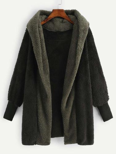Plus Hooded Teddy Coat