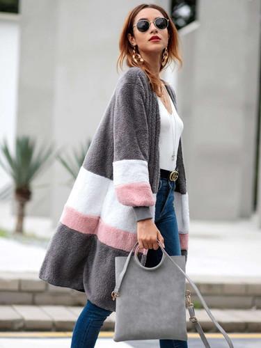 Cut And Sew Teddy Coat - Grey