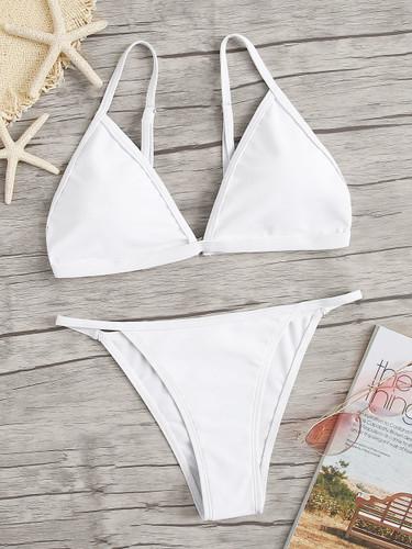 Triangle Top With Tanga Bikini Set
