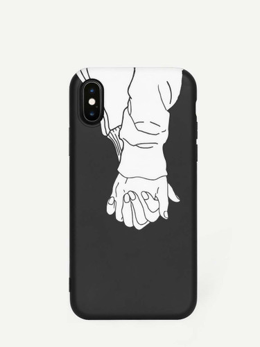 Holding Hand Pattern iPhone Case