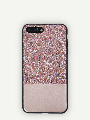 Sequin Overlay iPhone Case - ONE COLOR