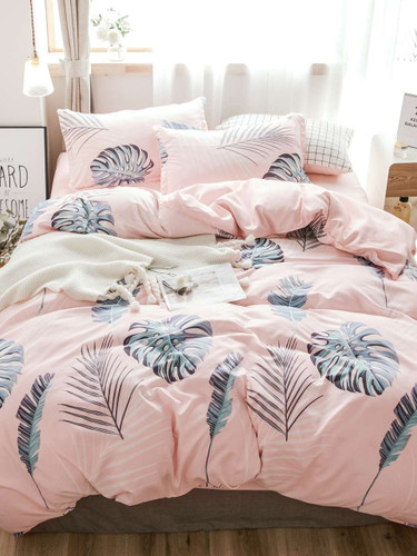 Leaf Print Duvet Cover 1 PC