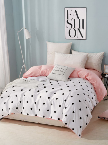 Polka Dot Print Duvet Cover 1PC - Multicolor