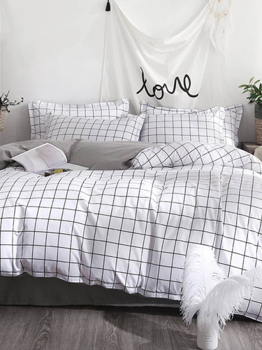 Allover Grid Duvet Cover