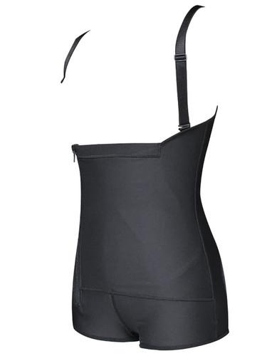 Plus Zipper-up Ruched Shapewear Bodysuit