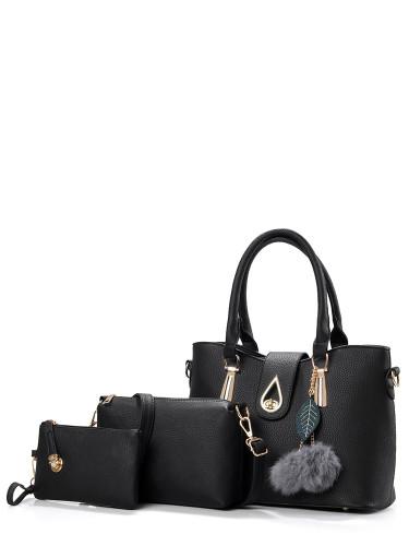 3 Pcs Faux Fur Pendant Bags Set