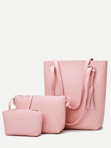 3 Pcs Tassel Pendant Shoulder Bags