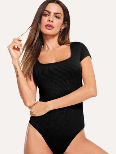 Button Up Skinny Bodysuit