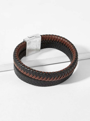 Men Double Layered Wide Bracelet