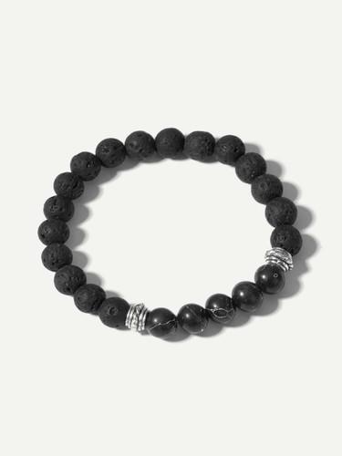 Men Textured Beaded Bracelet