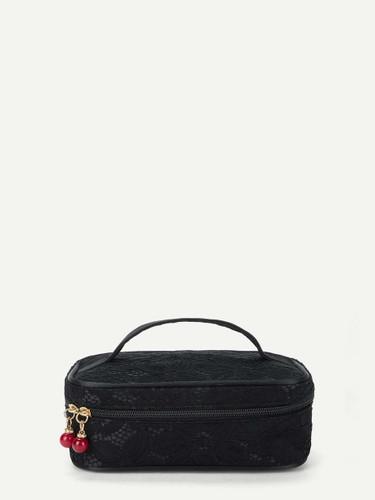 Lace Overlay Makeup Bag