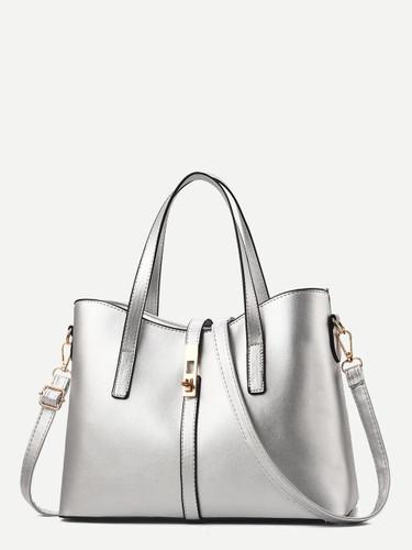 Metallic Detail Tote Bag